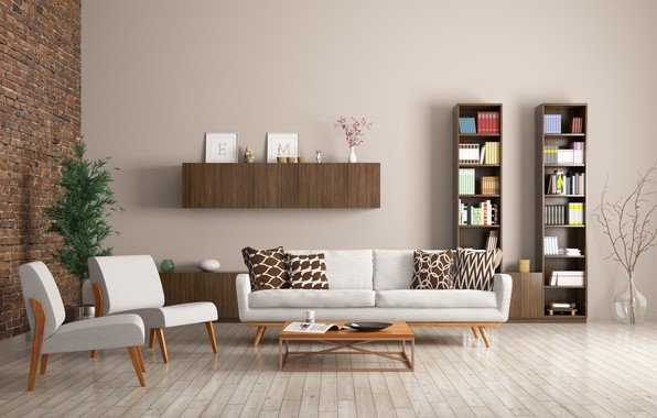 Picture sofa, interior, chairs, library, design, modern, apartment, racks