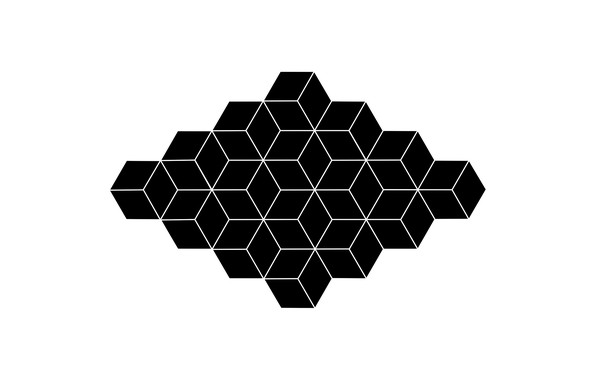 Picture white, abstraction, black, figure, white, geometry, black, monochrome, monochrome, figure, geometry