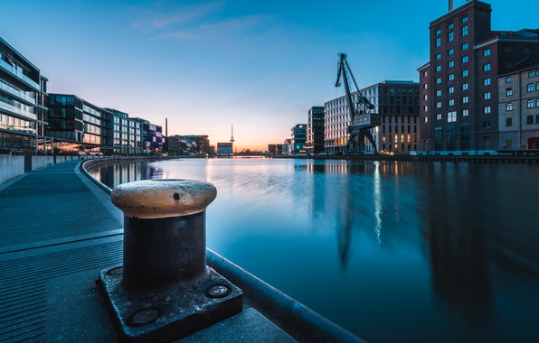 Picture the city, Sunrise, The City Harbour Of Münster