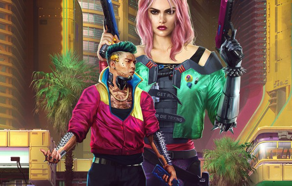 Picture Girl, The game, Gun, Style, Weapons, Guy, Fantasy, Art, Art, Fiction, Fiction, Cyborg, Illustration, Guns, …