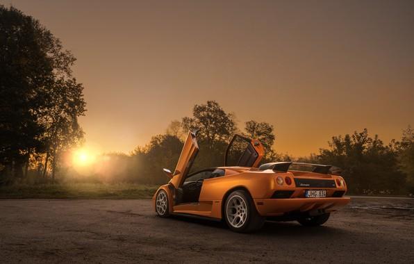 Picture sunset, the evening, Lamborghini, supercar, Diablo, Diablo VT, by Arnoldas Ivanauskas