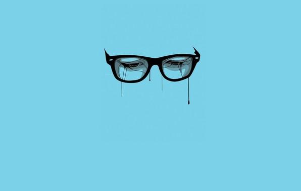Picture Wallpaper, Glasses, Minimalistic