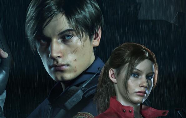 Picture Resident Evil, Capcom, Leon, Claire, Resident Evil 2, Resident Evil 2 (2019)