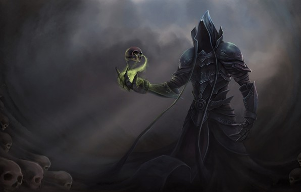 Picture magic, skull, the demon, Diablo 3 Reaper of Souls