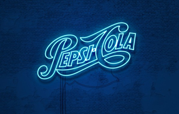 Picture wall, neon, wall, drink, cola, pepsi, Cola, drink, soda, Pepsi, neon glow, pepsi-cola, Pepsi-Cola