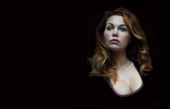 Picture portrait, art, Self Portrait, christine gourvest
