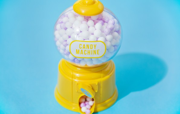 Picture balls, blue, machine, candy, bright, gum