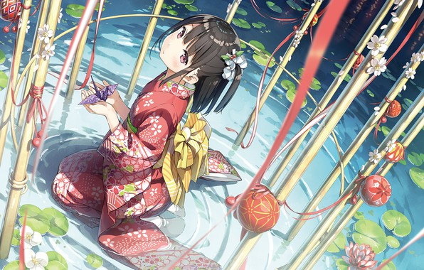 Picture girl, yukata, Kantai Collection, Naval collection