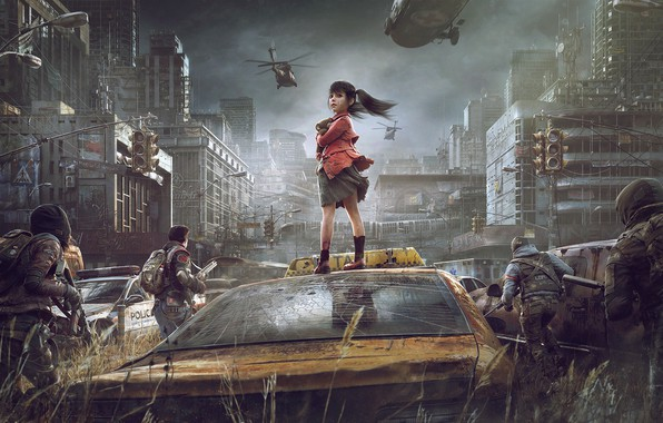 Picture Apocalypse, survival game, Michael Black, Take back the city, Children of Fall, Life after, Recapture …