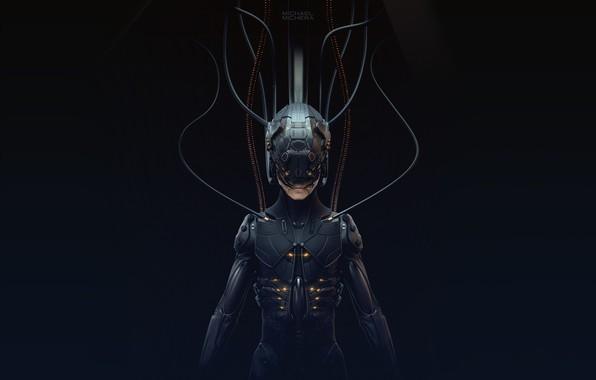 Picture Robot, Fiction, Cyborg, Concept Art, Cyberpunk, 2077, by MICHAEL MICHERA, MICHAEL MICHERA, Cybrog, ZSummit Sculpt, …