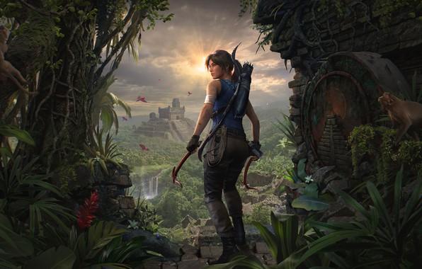 Picture lara croft, tomb raider, face, hair, Lara Croft, body, tomb raider, shadow of the tomb …