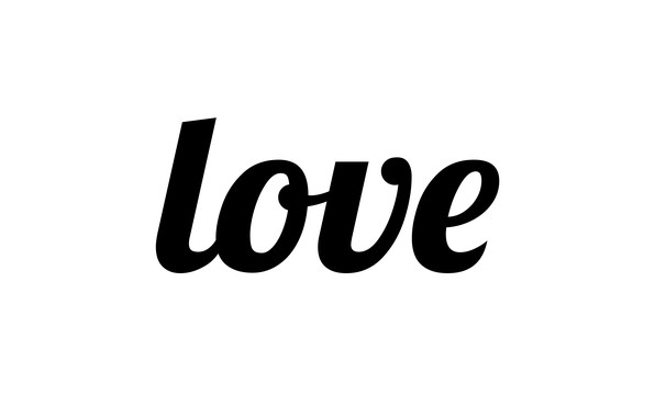 Picture letters, love, the word