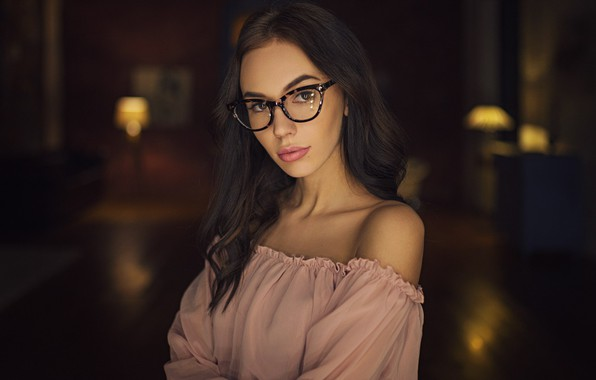 Picture girl, hair, glasses, Sergey Fat, Sergey Zhirnov, Viktoriya Sheremetyeva