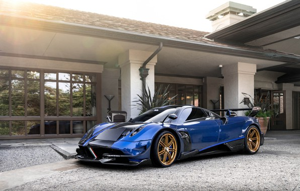 Picture Pagani, Blue, Black, Italia, To huayr, Pininfarina