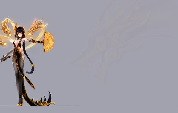 Picture gun, dragons, girl