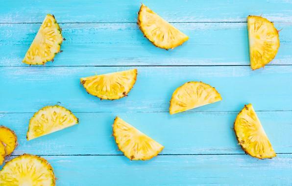Picture fruit, summer, pineapple, wood, slices, fruit, pineapple, slice