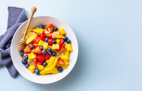 Picture Breakfast, fruit, oatmeal