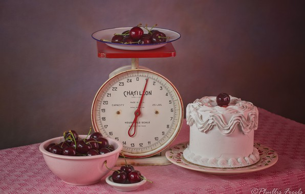 Picture cherry, style, berries, still life, Libra, tori