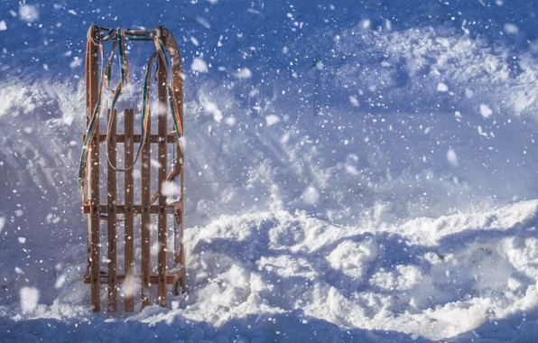 Picture photo, Winter, Snow, Sleigh
