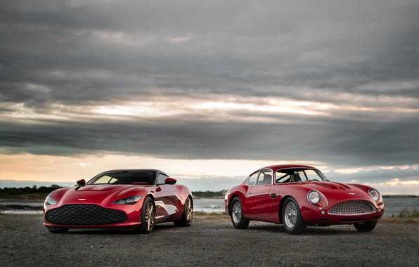Picture Aston Martin, red, Zagato, next, 2020, DB4 GT Zagato Continuation, DBS GT Zagato