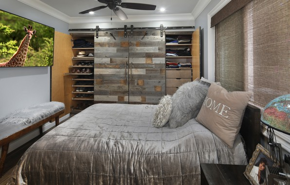 Picture photo, bed, pillow, bedroom