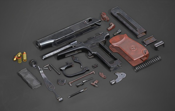 Picture The Makarov Pistol, Complete disassembly