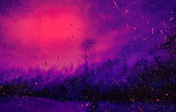 Picture wallpaper, art, blur, painting, abstraction, purple, reflection, dots, spots, image, spray, lilac, 4k ultra hd …