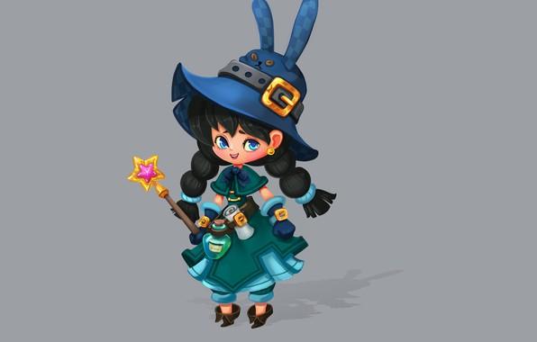 Picture the game, art, character, magic wand, hardware, witch, Smirnоv School, Rikka Desunyaaa