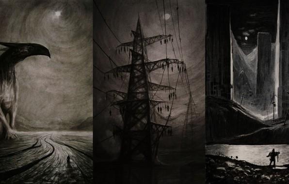 Picture horror, Art, Creepy, vergvoktre, depressive