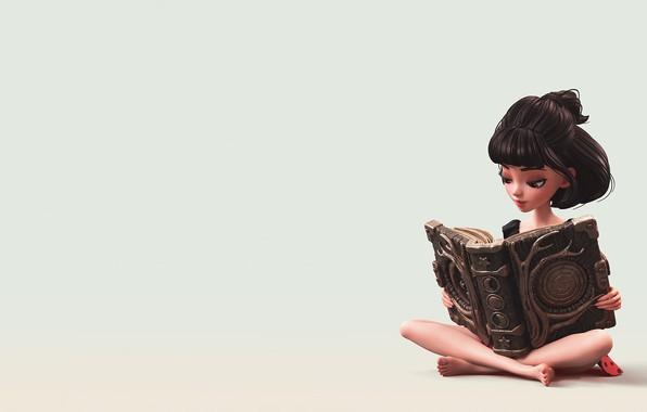 Picture girl, art, book, Witchcraft, Alina Makarenko