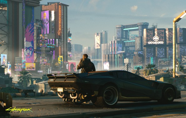 Picture city, the city, future, robot, robot, cyberpunk, machine, cyberpunk 2077, 2077