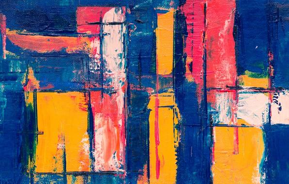Picture line, strip, paint, canvas, brush strokes