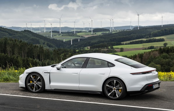 Picture coupe, Porsche, Turbo S, 2020, the four-door, Taycan