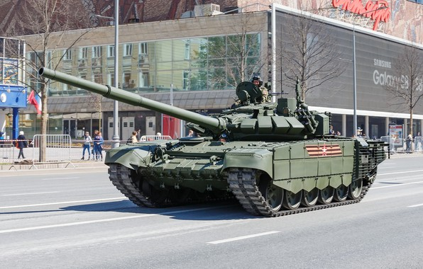 Picture tank, Victory Parade, T-72Б3М, armored vehicles of Russia, mod. 2016