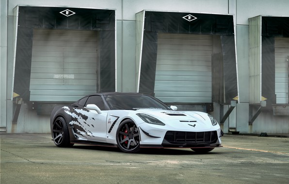 Picture Corvette, Chevrolet, Wheel, Machine, Drives, Sport, Stingray C7, Ferrada Wheels