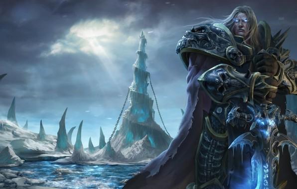 Picture sword, sword, undead, undead, frostmourne, Arthas Menethil, Warcraft 3, death knight, death knight, frozen throne, …