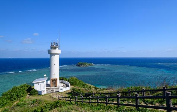 Picture Nature, Sea, Japan, Lighthouse, Shore, Landscape