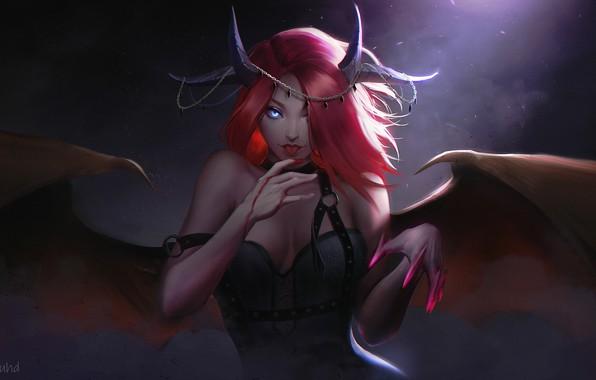 Picture look, wings, fantasy, art, succubus, Succubus