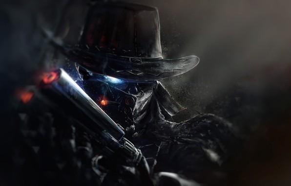 Picture Gun, Eyes, Face, Cowboy, Hat, Fantasy, Art, Art, Fiction, Cyborg, by Marcel Kaiser, Character Designs, …