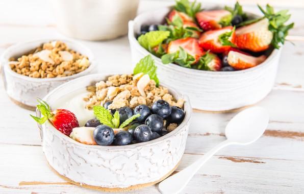 Picture berries, Breakfast, yogurt, granola