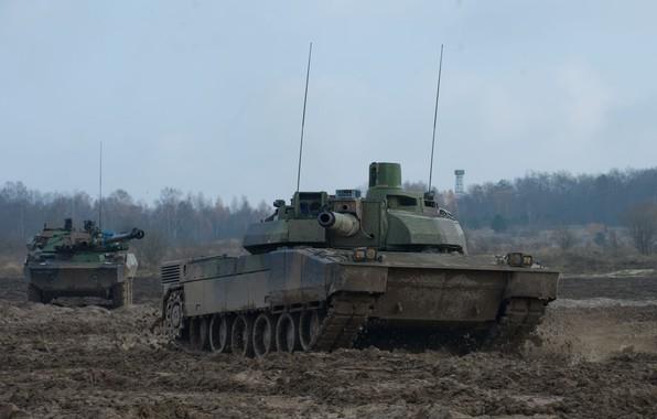 Picture MBT, French Army, Leclerc, Leclerc, AMX-56, AMX-10RC, MBT, The armed forces of France, reconnaissance vehicle, …
