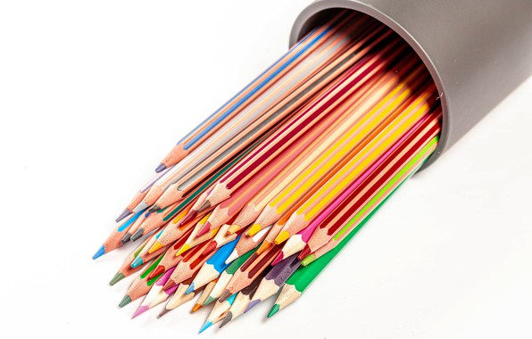 Picture pencils, colorful, the office