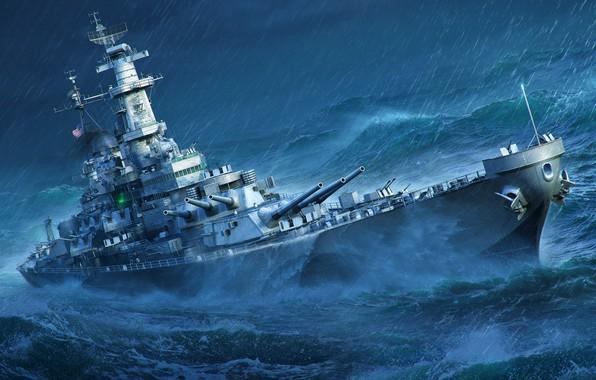 Picture Storm, Missouri, World of Warships, Battleship