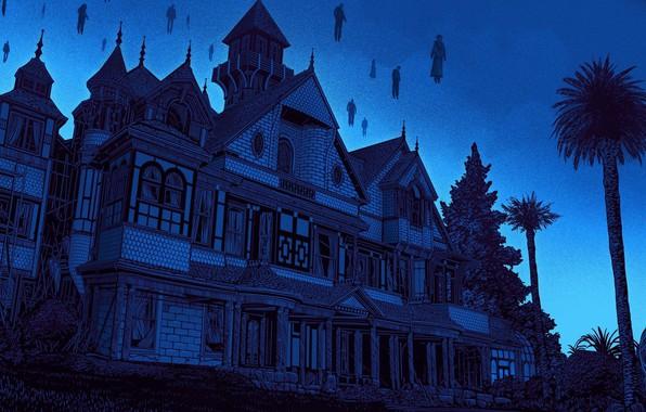 Picture Art, Illustration, Daniel Danger, Winchester Mystery House