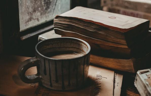 Picture Coffee, Mood, Window, Books, Foods, Mug, Hot chocolate