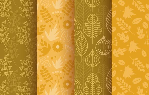 Picture autumn, background, texture, leaves, patterns, elements, Colors, Leaves, autumnal