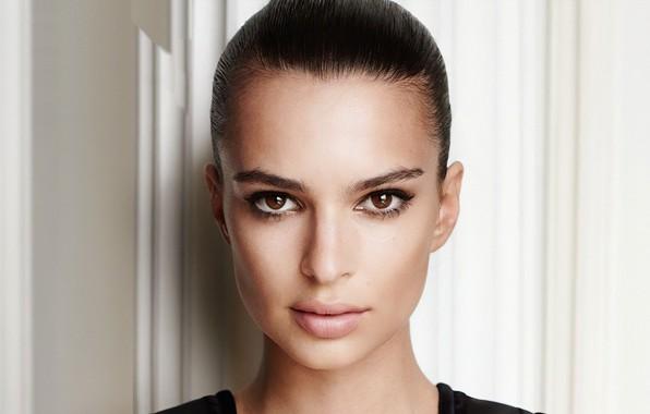 Picture look, girl, face, model, makeup, Emily Ratajkowski