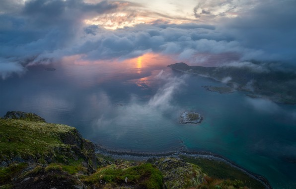 Picture clouds, mountains, The sun, mountains, clouds, Andrey Bazanov, the Sun, Andrey Bazanov
