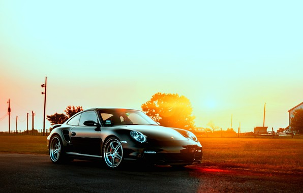 Picture Porsche, sunset, Porshe 997