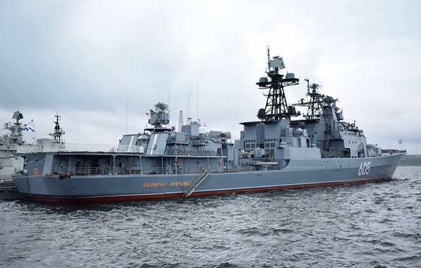 Picture ship, large, Navy, anti-submarine, project 1155, Admiral Levchenko